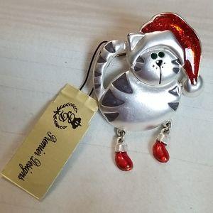 New Premier Designs Christmas Cat Brooch